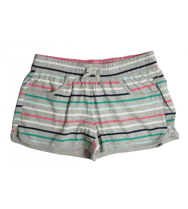 Girls Striped Knit Hot Shorts
