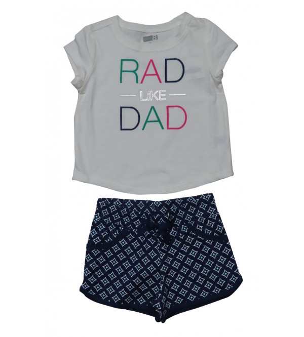 Girls Printed Shorty Set