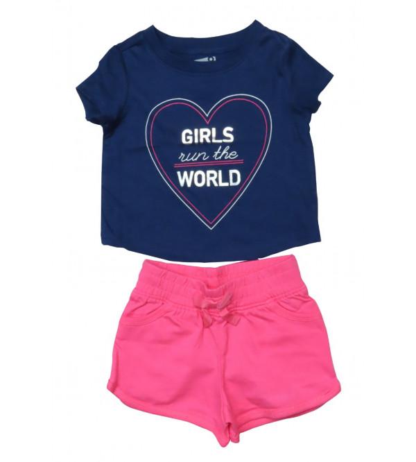 Girls Printed Shorty Set