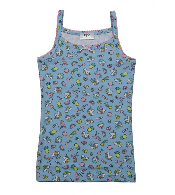 Girls Printed Strappy Tank Top