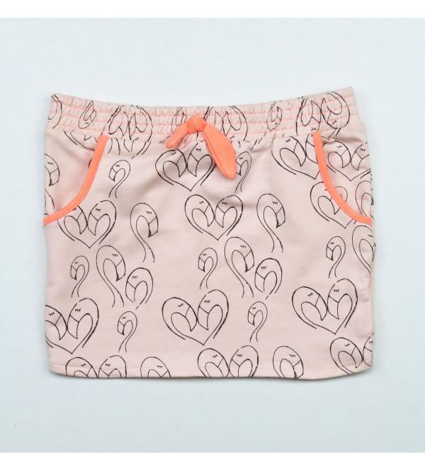 Girls Printed Stretch Skirt