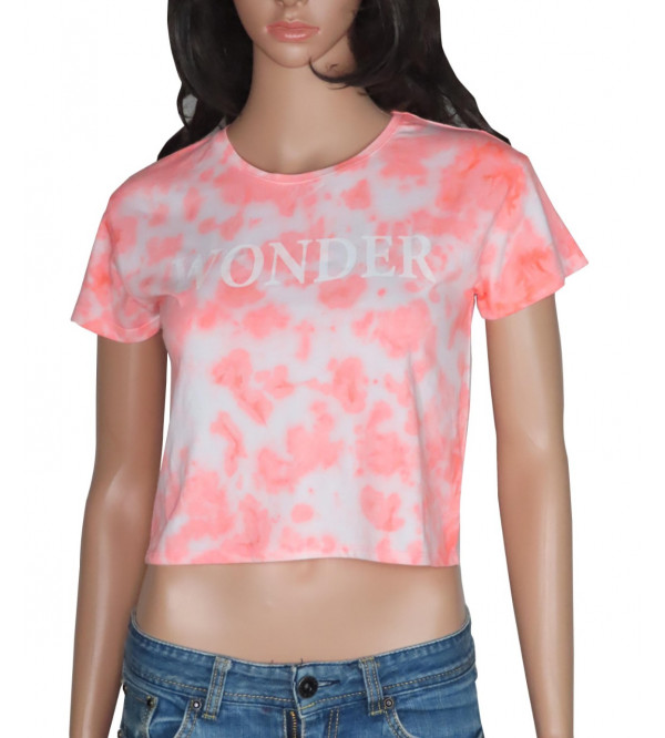 Older Girls Tie-Dyed Cropped Top