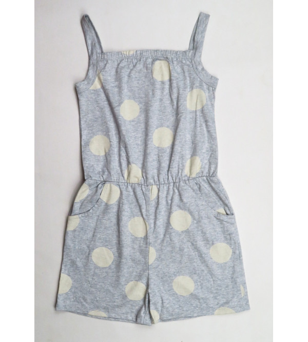 Girls Printed Strappy Dungaree