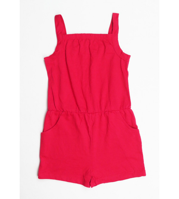 Girls Strappy Dungaree
