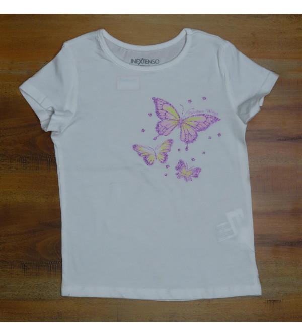 Girls Glitter Printed Top
