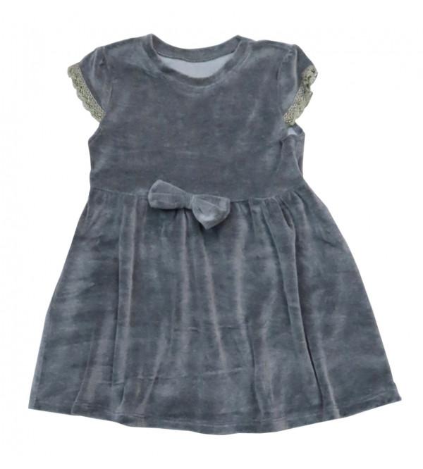 Girls Velour Knit Dress