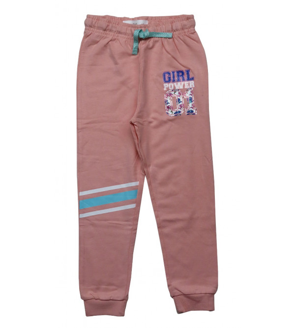 Girls French Terry Active Jogger