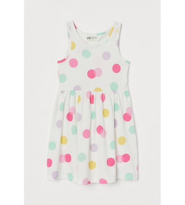 H&M Polka Dot Printed Girls Knit Dress