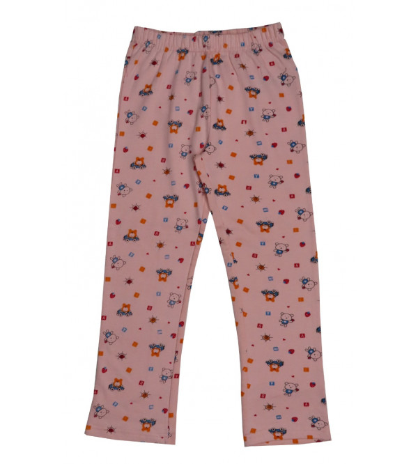 Girls Printed Loop Knit Pants