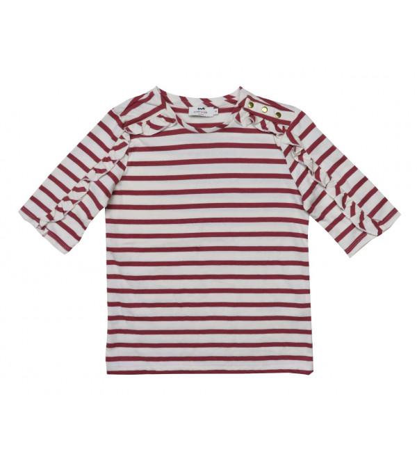 Girls Striped T Shirt