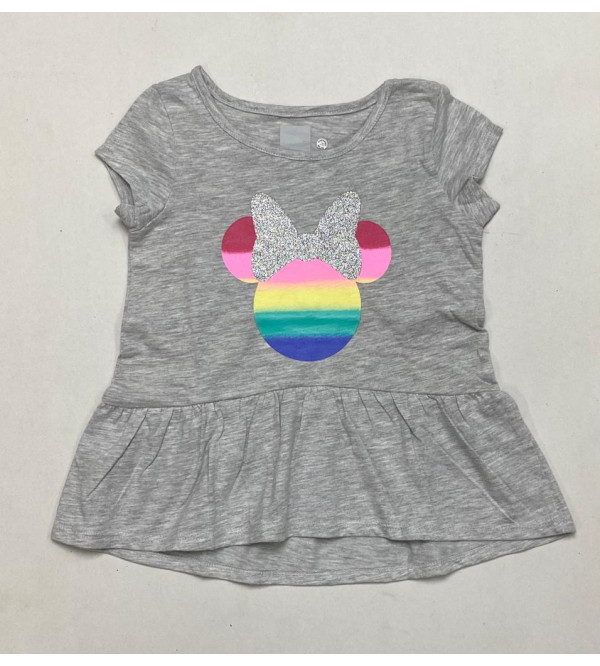 Minnie Mouse Printed Girls Top