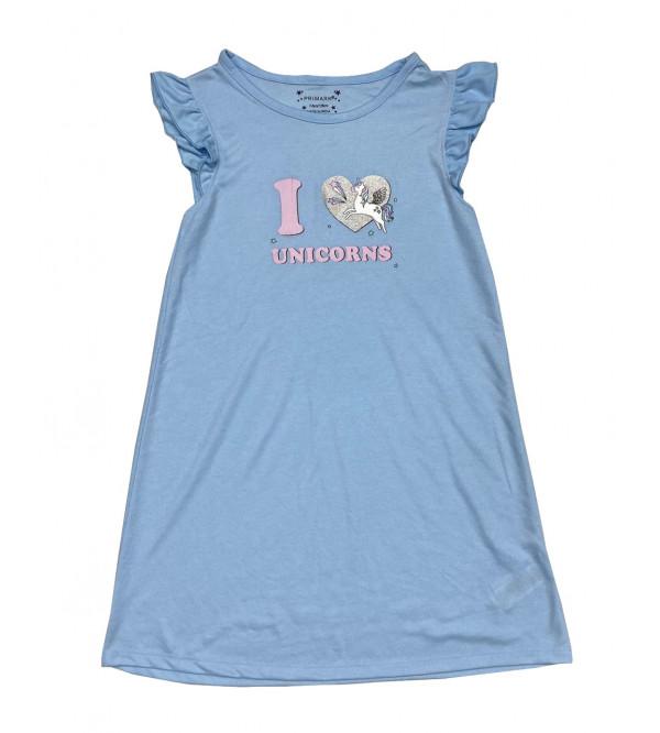 Unicorn Printed Girls  Nightshirt