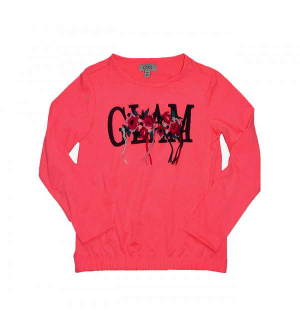 Girls Long Sleeve Applique T Shirt