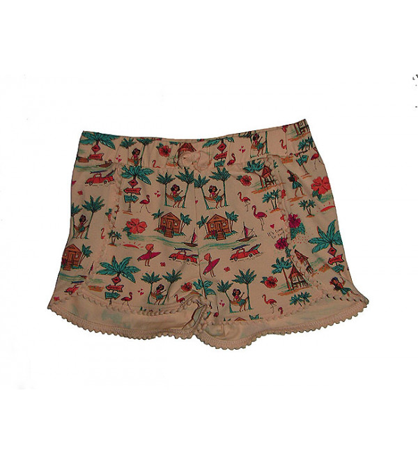 Girls Stretch Printed Knit Shorts
