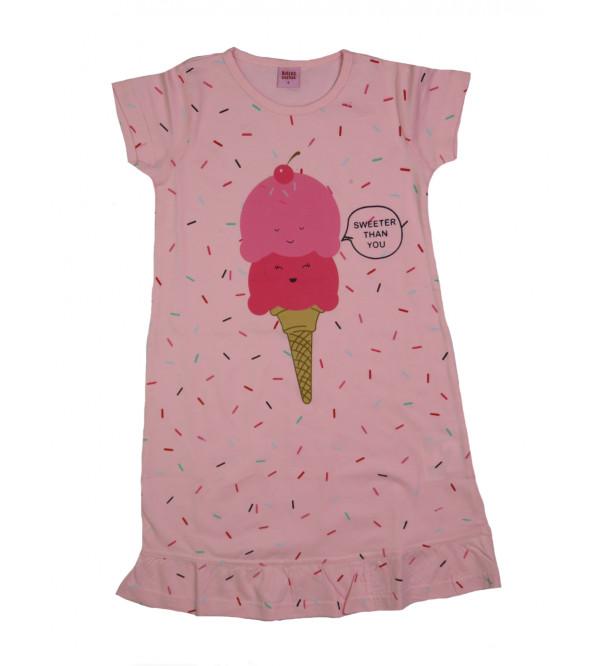 Ice Cream Print Girls Knit Dress