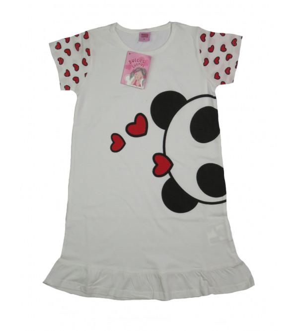 Panda Print Girls Knit Dress