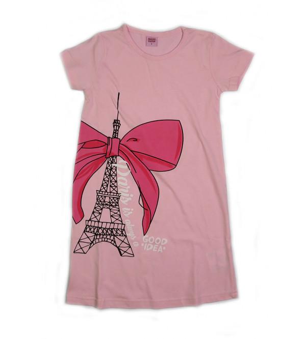 Eiffel Tower Print Girls Knit Dress