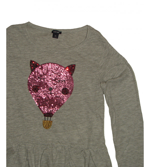 Girls Glitter Printed and Sequinned Tops