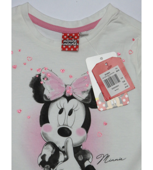 Minnie Mouse Girls Dress With Mesh Trims