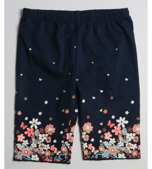 Glitter Printed Girls Long Shorts