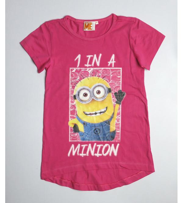 MINION Printed Girls Short Sleeve T Shirt