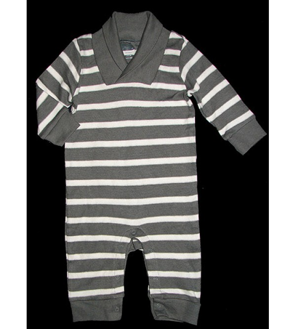 Baby Striped Winter Playsuit