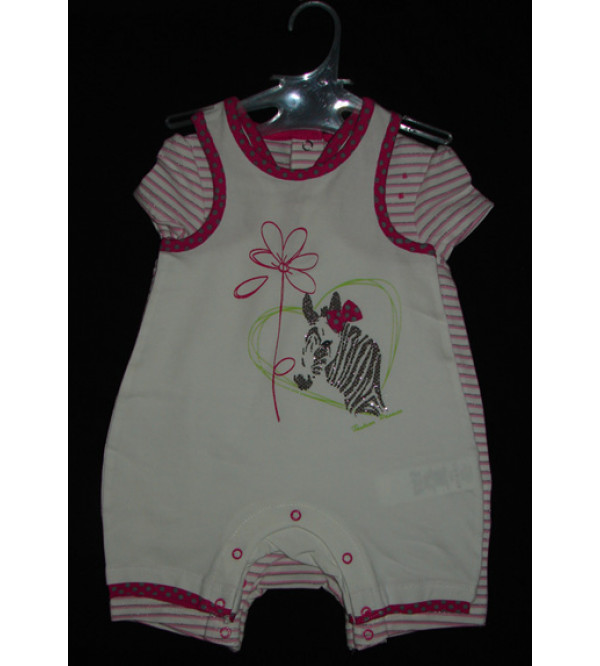 Baby Girls Stretch Play suits (Twin pack)