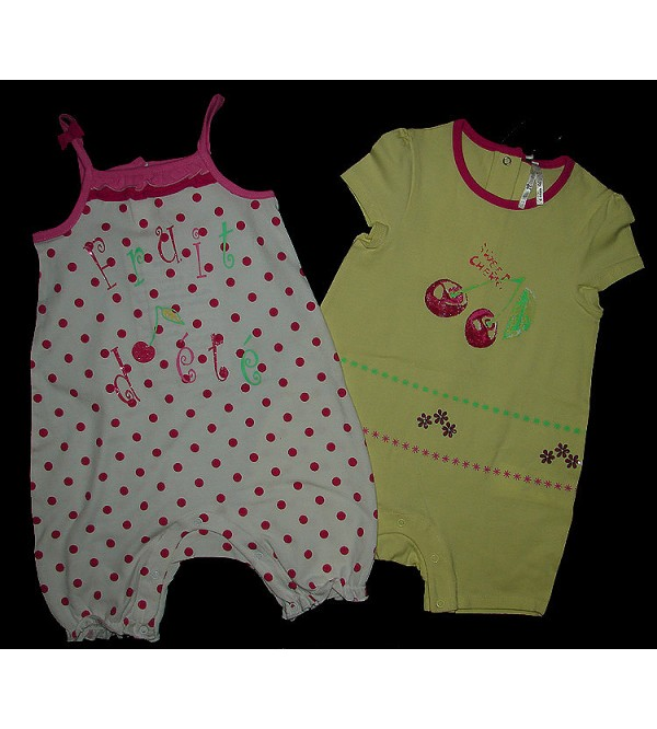 Baby Girls Stretch Play suits (2-pc-packs)