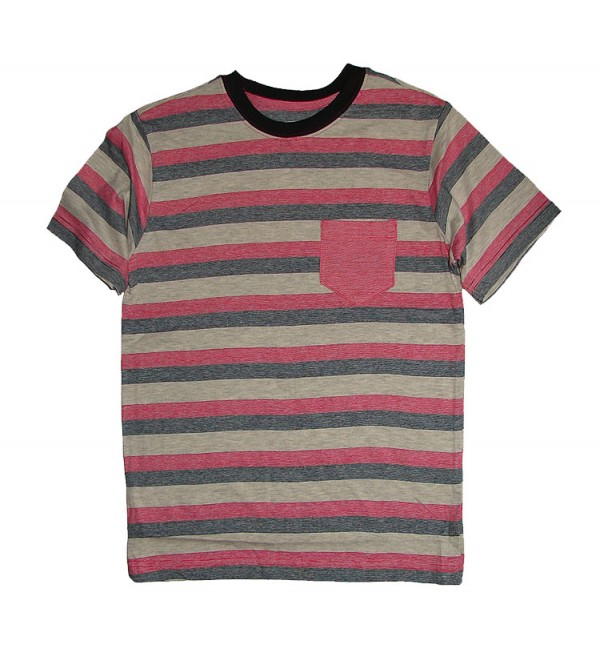 Boys short sleeve striped t shirt.