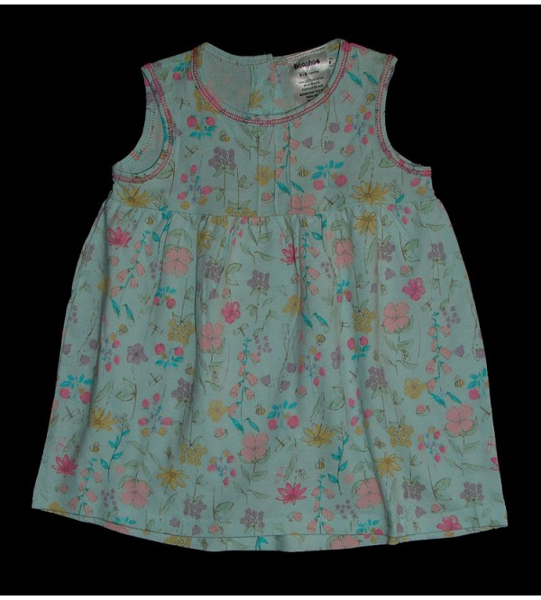 Baby Girls  Allover Printed Dress