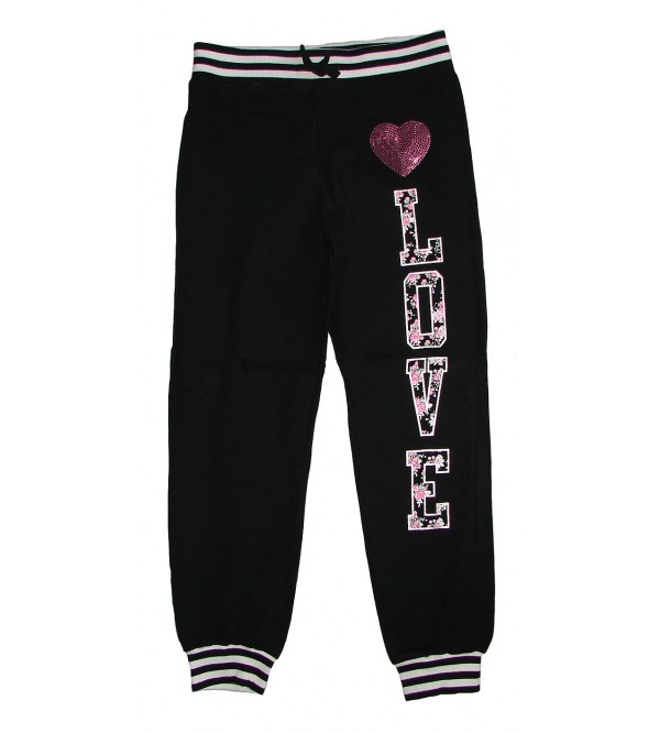 Girls Knit Jogger Bottoms