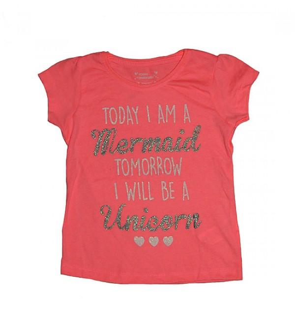 Girls Short Sleeve Printed T Shirt