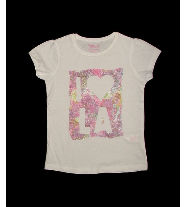 Girls Short Sleeve Printed T Shirt