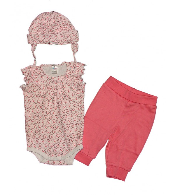 Baby Girls Printed 3 Pc Sets (Bodysuit + Leggings + Hat)