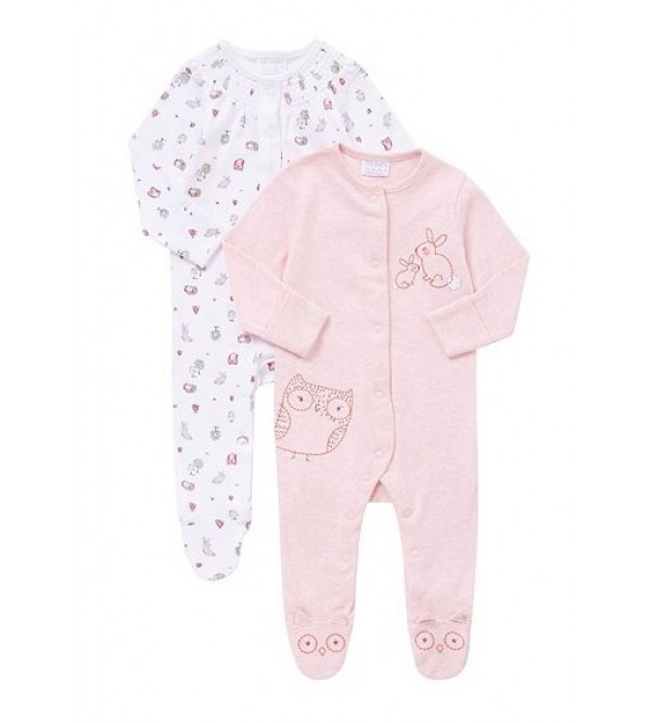Baby Girls Printed Sleepsuits
