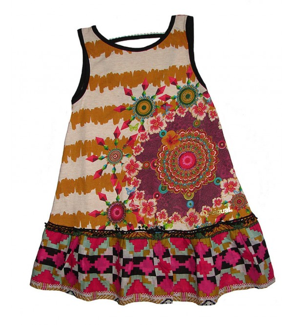 Girls Sleeveless Printed Dress