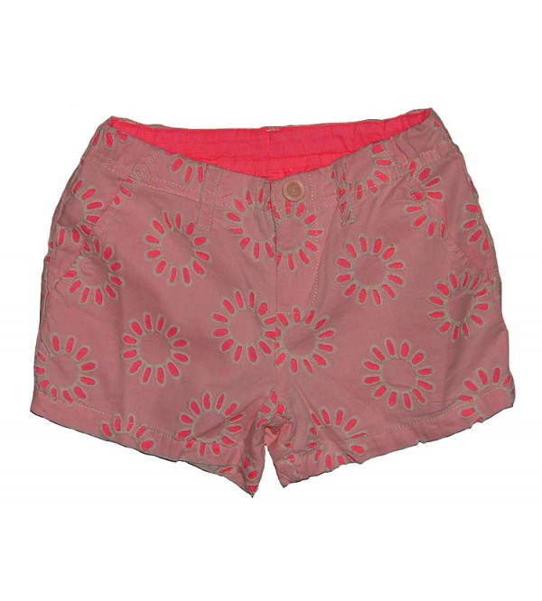 Girls Woven Shorts With Crochet