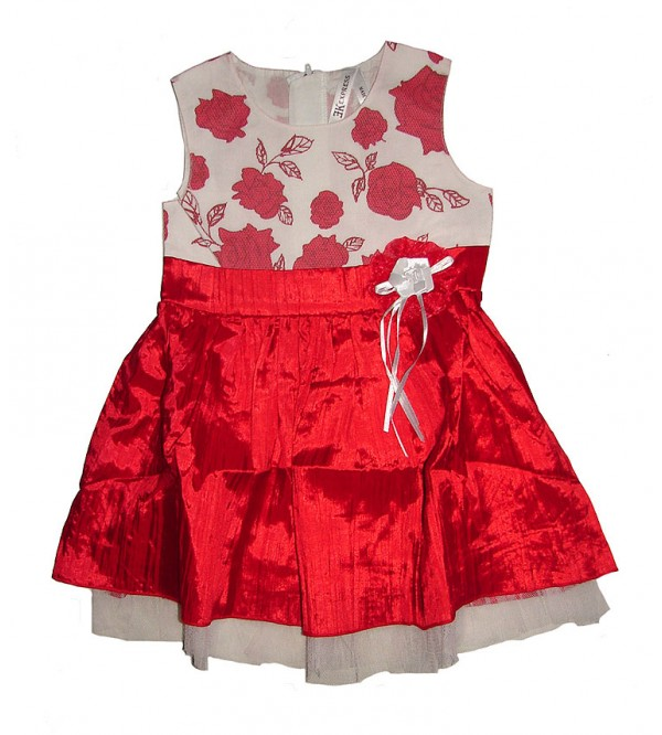 Girls Sleeveless Printed Woven Dress
