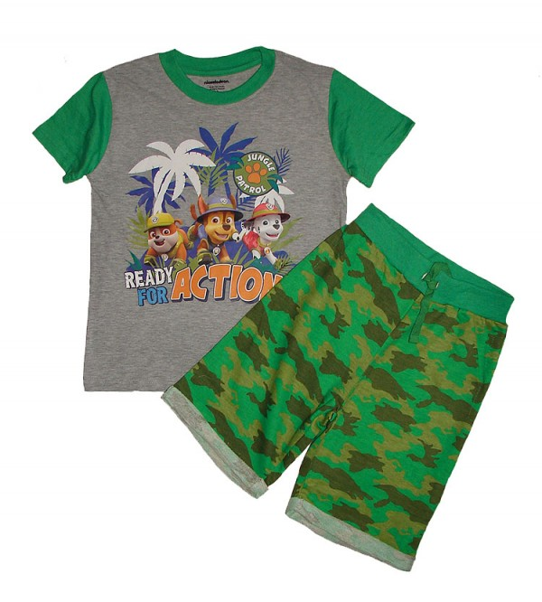 Branded Boys Printed Shorty Set