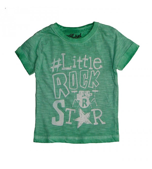Baby Boys Cold Pigment Dyed Printed T Shirts