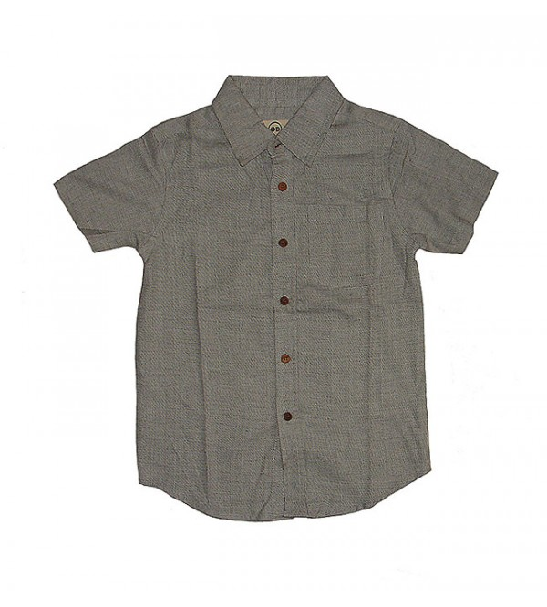 Boys Short Sleeve Woven Shirt