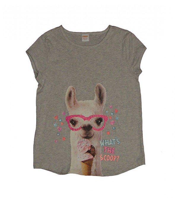 Girls Glitter Printed Tops