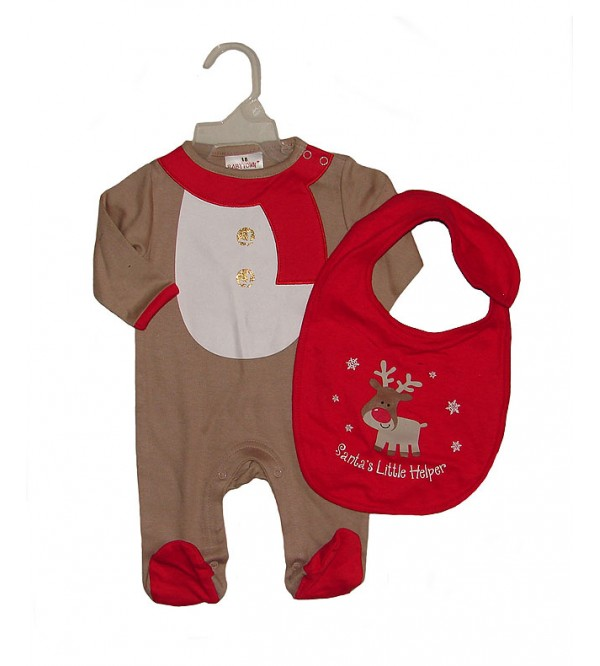 Baby Sleepsuit With Bib Pack For Christmas Holidays