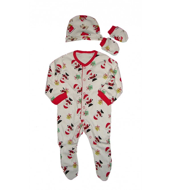 Baby Sleepsuit n Hat With Mittens Pack For Christmas Holidays
