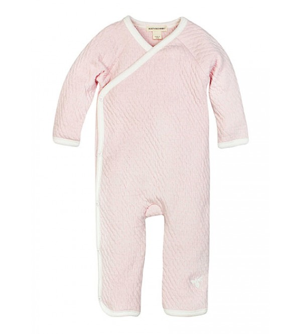 Baby Quilted Organic Kimono Coverall