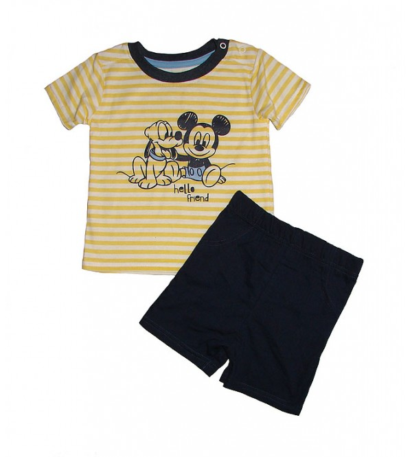 Baby Boys Printed Shorty Sets