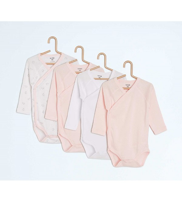 Baby 4 pc pack Long Sleeve Bodysuits