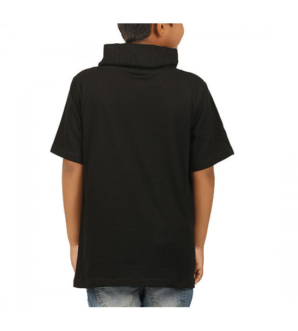 Boys Printed Cowl Neck T Shirt