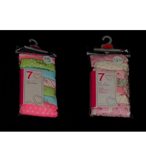 Girls Printed 7 pack Briefs