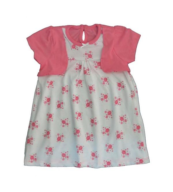 Baby Girls Short Sleeve Printed Dress